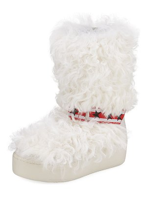 Ash Cool Moon Fur Mid-Calf Boots