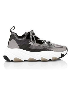 Ash eclipse chunky mixed-media sneakers