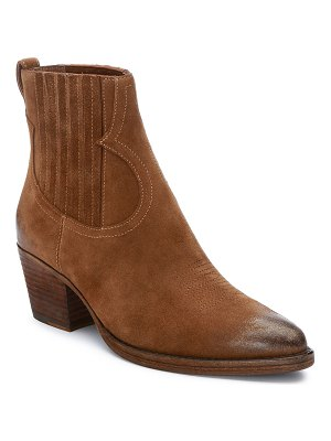 Ash Faith Suede Western Ankle Booties