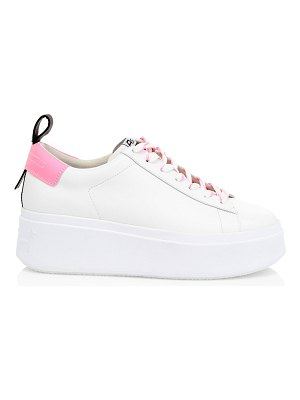 Ash moon leather platform sneakers
