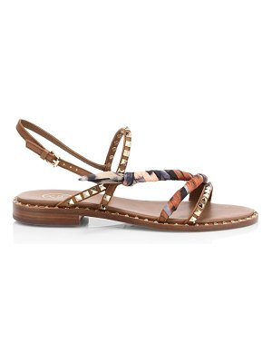 Ash pa studded leather slingback sandals