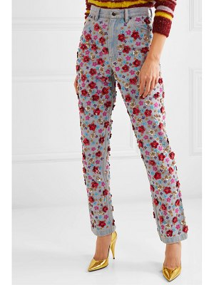 Ashish embellished high-rise tapered jeans