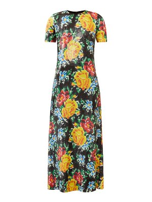 Ashish floral sequinned-georgette maxi dress