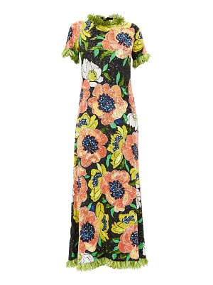 Ashish floral sequinned maxi dress