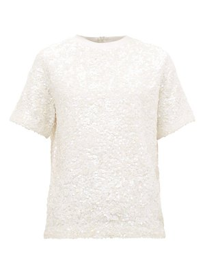 Ashish hand sequinned cotton t shirt