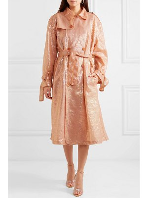 Ashish sequined georgette trench coat