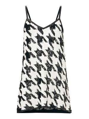 Ashish sequinned houndstooth-check mini dress