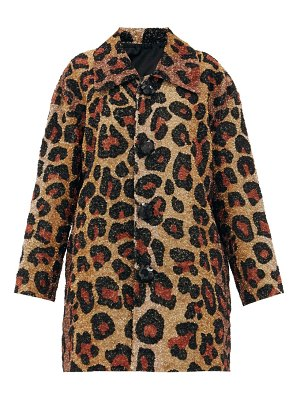 Ashish single-breasted leopard-pattern sequin coat
