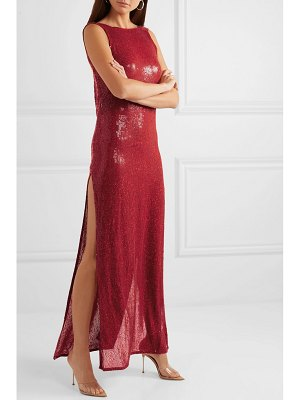Ashish suzi draped sequined georgette gown