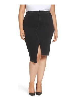 ASHLEY GRAHAM X MARINA RINALDI canoa asymmetrical denim skirt