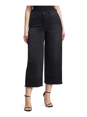 ASHLEY GRAHAM X MARINA RINALDI crop wide leg jeans