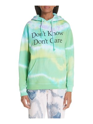 Ashley Williams don't know don't care tie dye hoodie