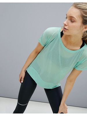 Asics Running Crop Front Tee In Mint