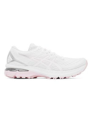 Asics white and pink gt-2000 9 sneakers