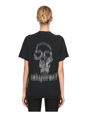 ASKYURSELF Confused skull cotton jersey t-shirt