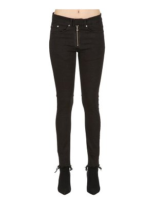 ASKYURSELF Skinny phrase angle raw denim jeans