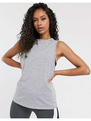 ASOS 4505 drop armhole tank in cotton touch-gray