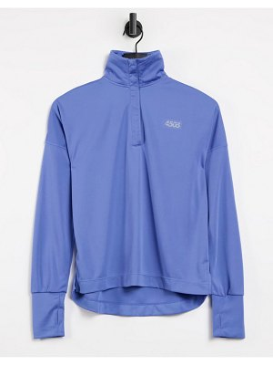 ASOS 4505 icon long sleeve top with 1/4 zip-blues