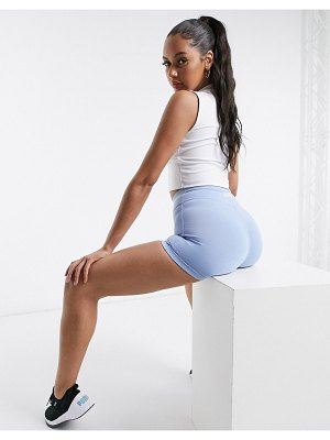 ASOS 4505 icon training booty short in cotton touch-blue
