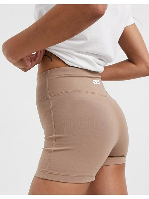 ASOS 4505 icon training booty short in cotton touch-cream