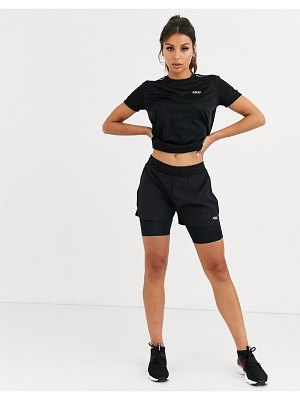 ASOS 4505 icon woven run short with underlayer-black