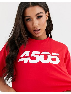 ASOS 4505 oversized crop tee with 4505 logo-red
