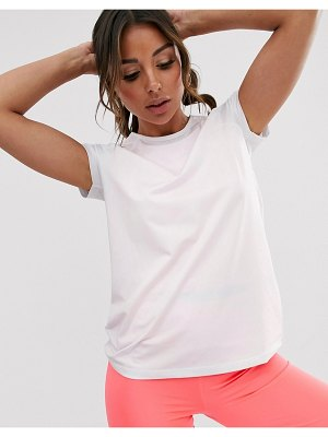 ASOS 4505 short sleeve t-shirt with mesh back detail-white