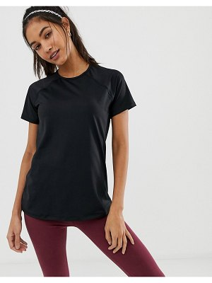 ASOS 4505 short sleeve top with mesh back detail