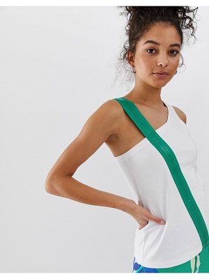 ASOS 4505 tank with elastic strap detail-white