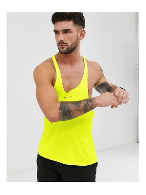 ASOS 4505 training stringer tank with racer back in neon yellow