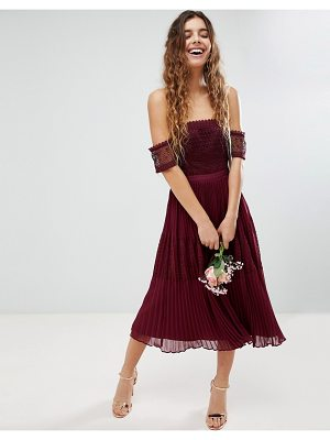 ASOS DESIGN asos premium guipure lace paneled midi dress