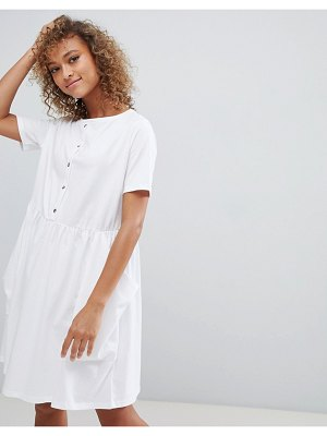 ASOS DESIGN button front smock dress with pockets