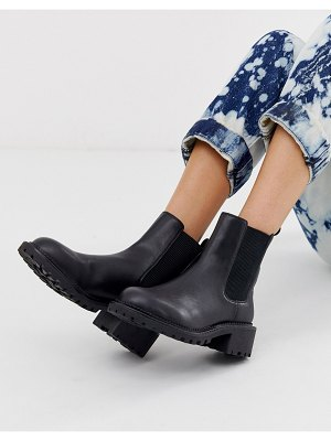 ASOS DESIGN action chunky chelsea boots in black