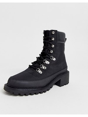 ASOS DESIGN alix hiker boots in black