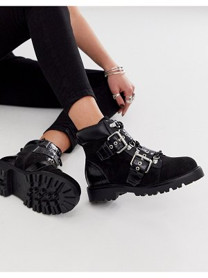 ASOS DESIGN avenue hiker boots in black
