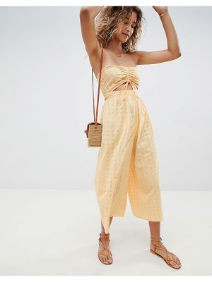 ASOS DESIGN bandeau jumpsuit with ruched front