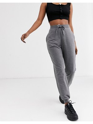 ASOS DESIGN basic jogger with tie-gray