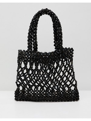 ASOS DESIGN beaded grab clutch bag