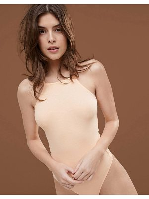 ASOS DESIGN body with high square neck in rib