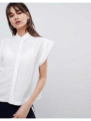 ASOS DESIGN Boxy Shirt With Pleat Detail