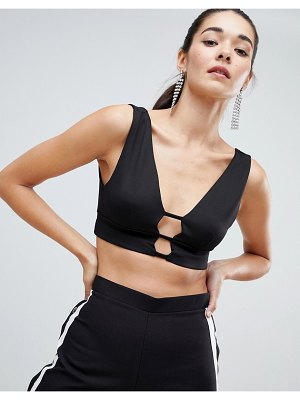 ASOS DESIGN bralette in scuba with caging detail