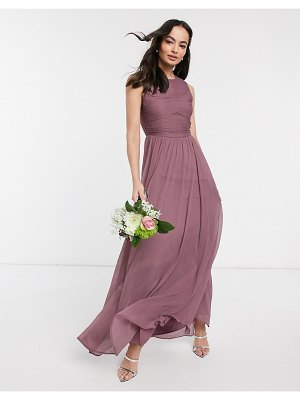 ASOS DESIGN bridesmaid maxi dress with soft pleated bodice-purple