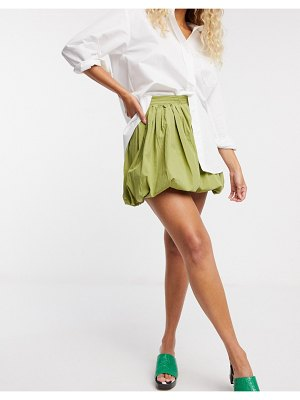 ASOS DESIGN bubble mini skirt in green