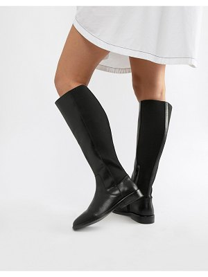 ASOS DESIGN cadence leather riding boots-black