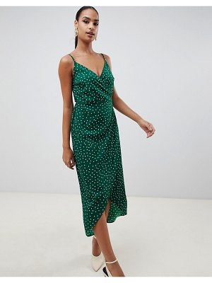 ASOS DESIGN cami wrap maxi dress