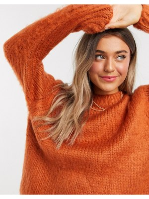 ASOS DESIGN chunky sweater in rust-red