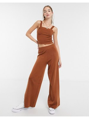 ASOS DESIGN co-ord knitted sweatpants in brown