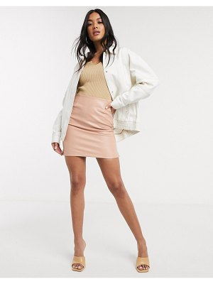 ASOS DESIGN contrast stitch jacket in white