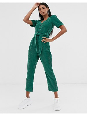 ASOS DESIGN cord jumpsuit with sweetheart neckline