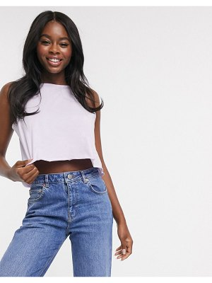 ASOS DESIGN crop swing tank in lilac-purple
